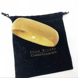 Joan Rivers Gold Mesh Bracelet in Bag